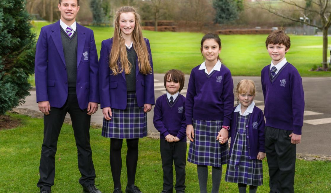 wycliffe college students wearing the uniform