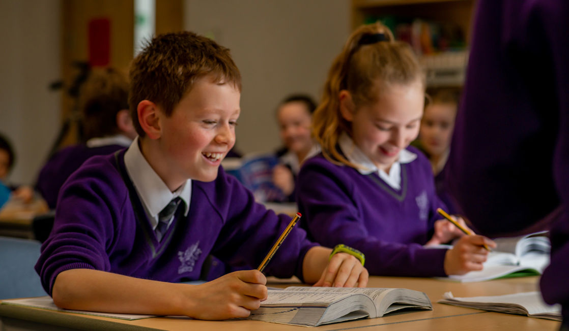 wycliffe pupils doing class exercises