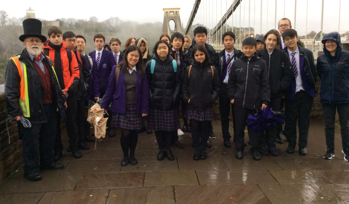 group of wycliffe students on a trip