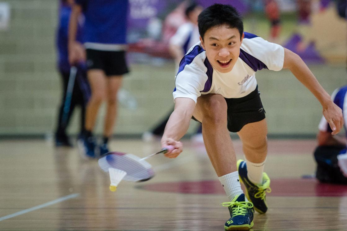 wycliffe boy playing badminton