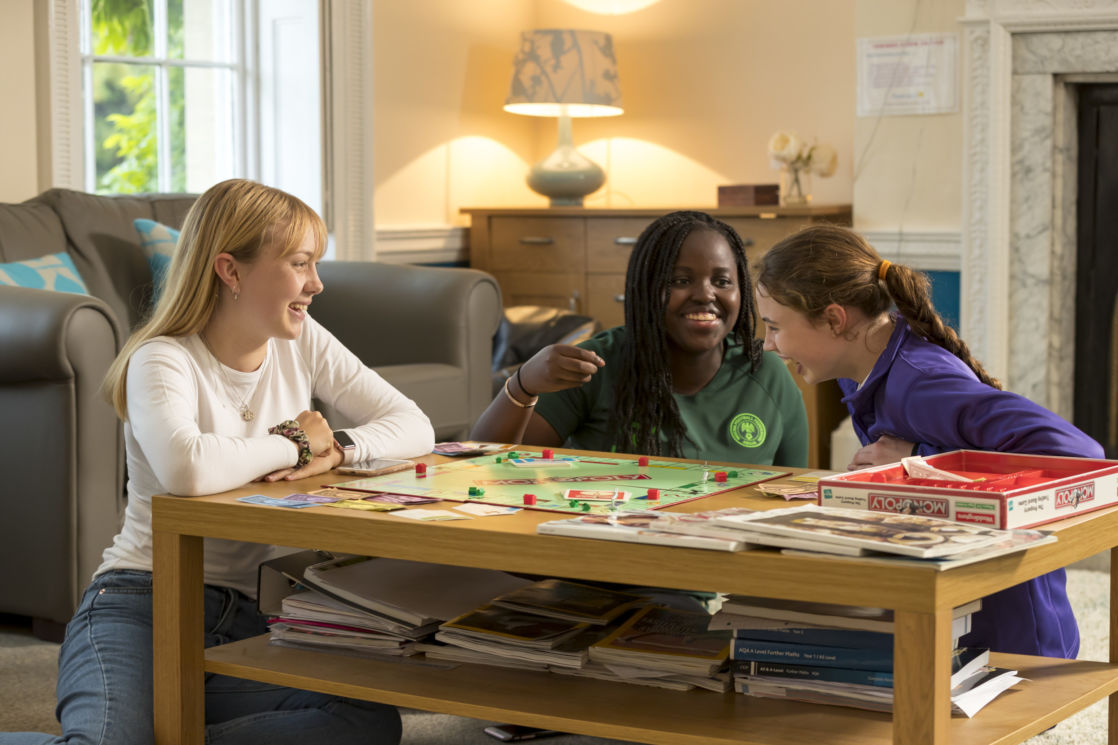 wycliffe boarding girls playing monopoly