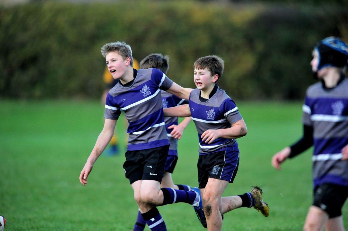 wycliffe boys playing football
