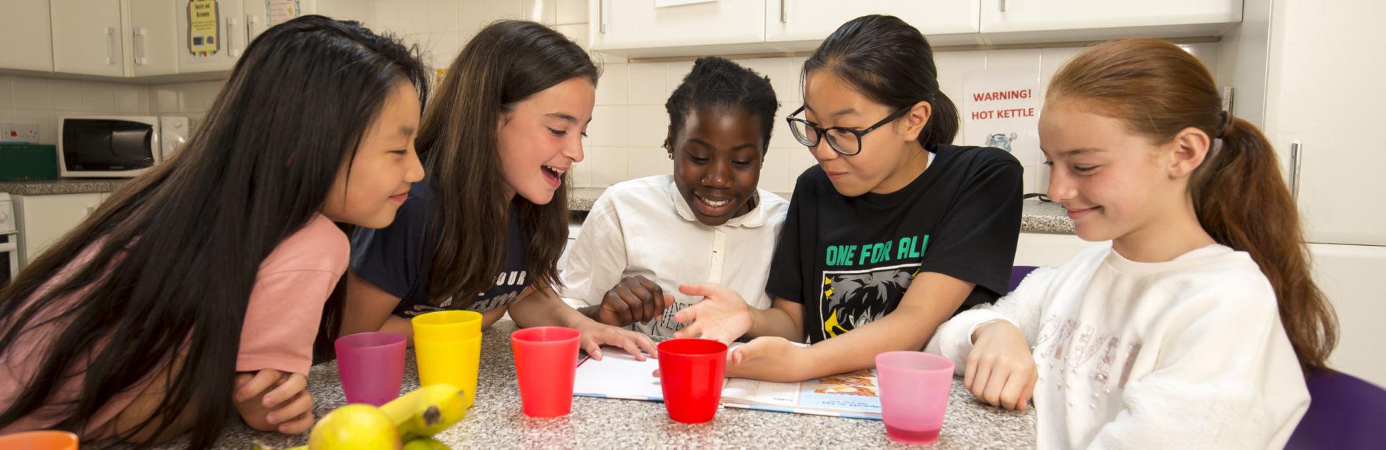 International Girls boarding house kitchen