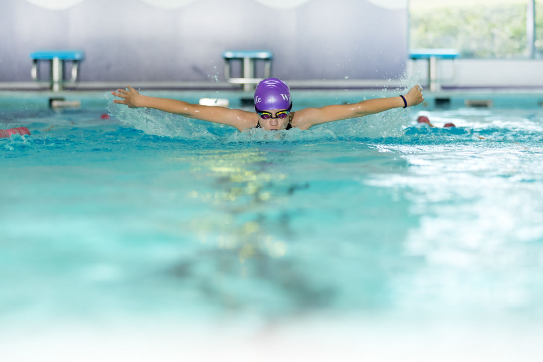 wycliffe pupil swimming