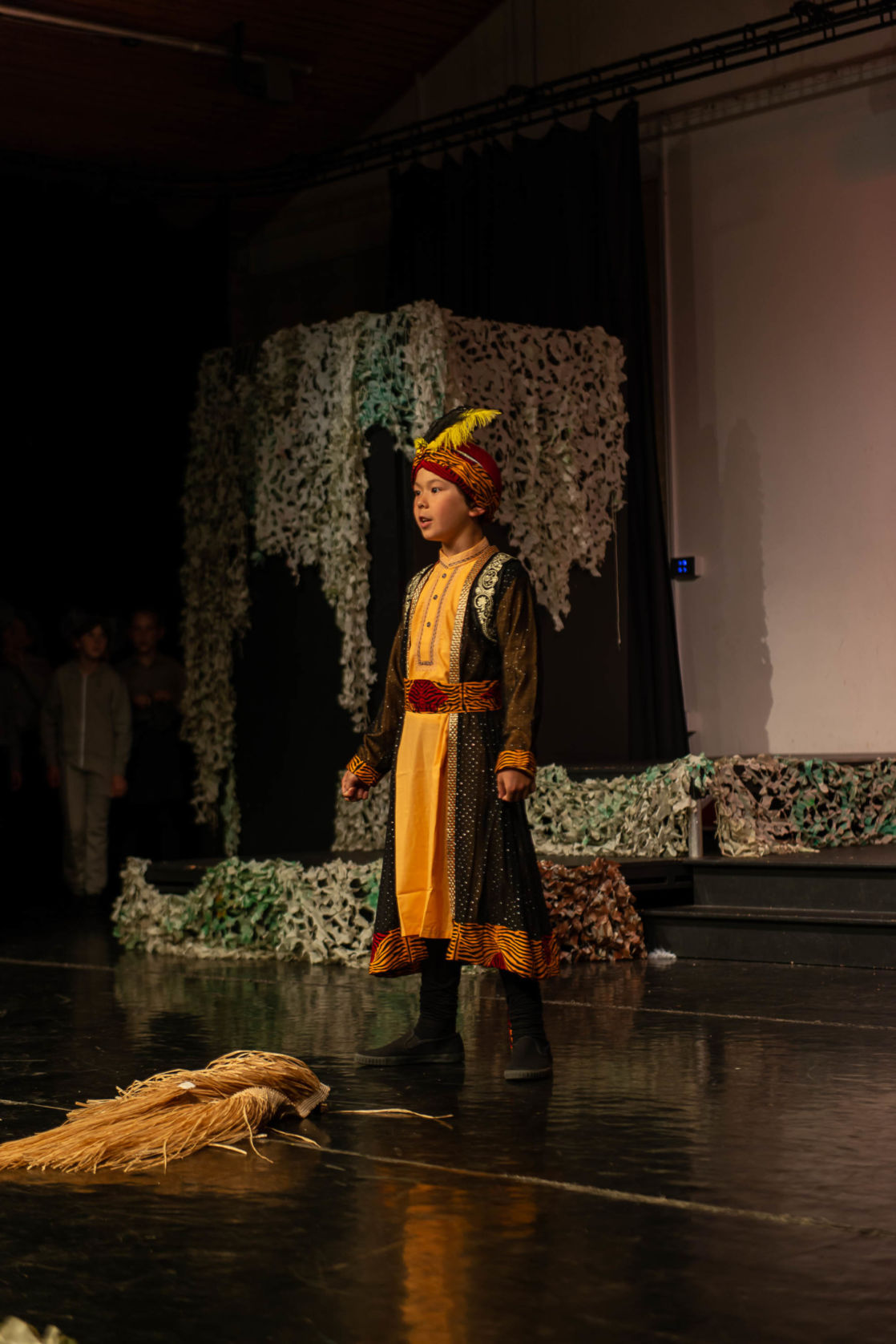 wycliffe pupil mikey acting onstage
