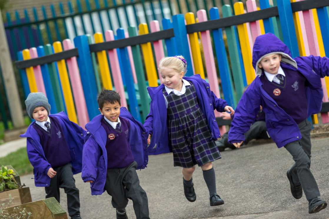 nursery children playing outside