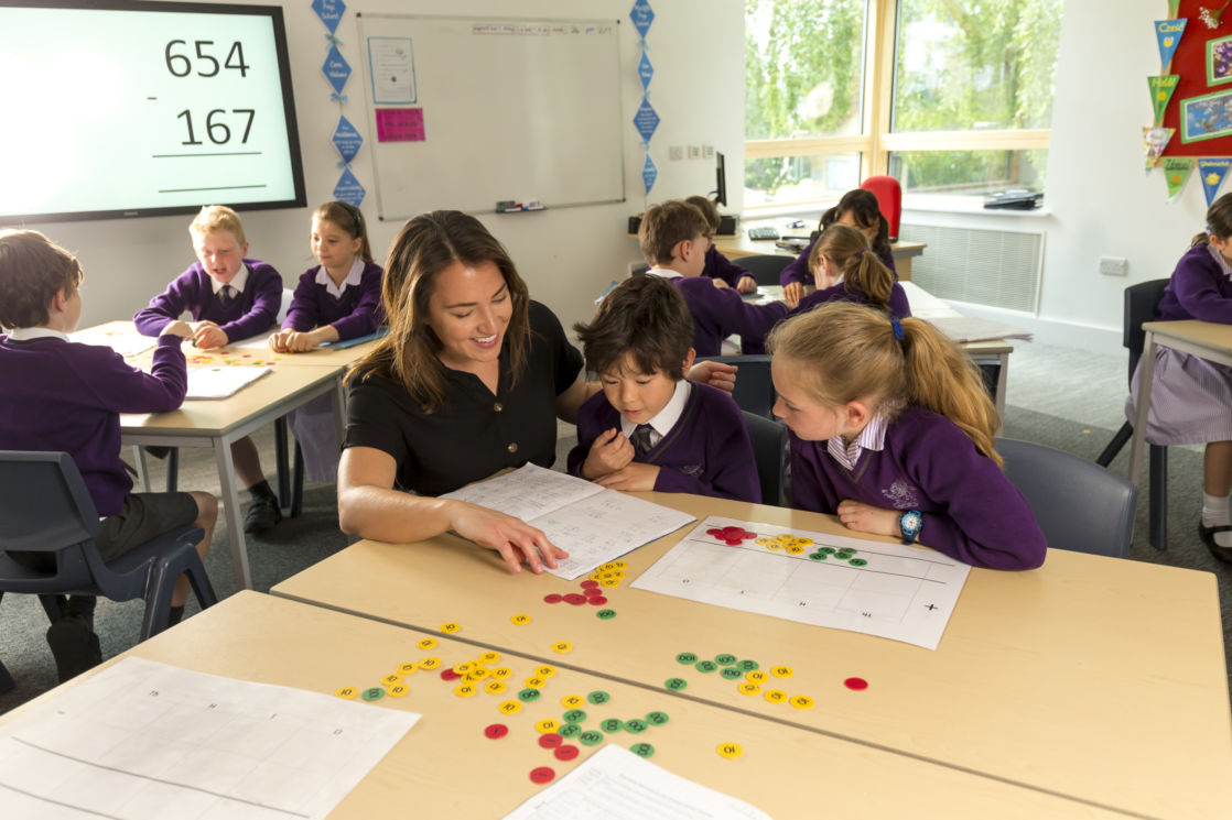wycliffe prep pupils and teacher learning in class