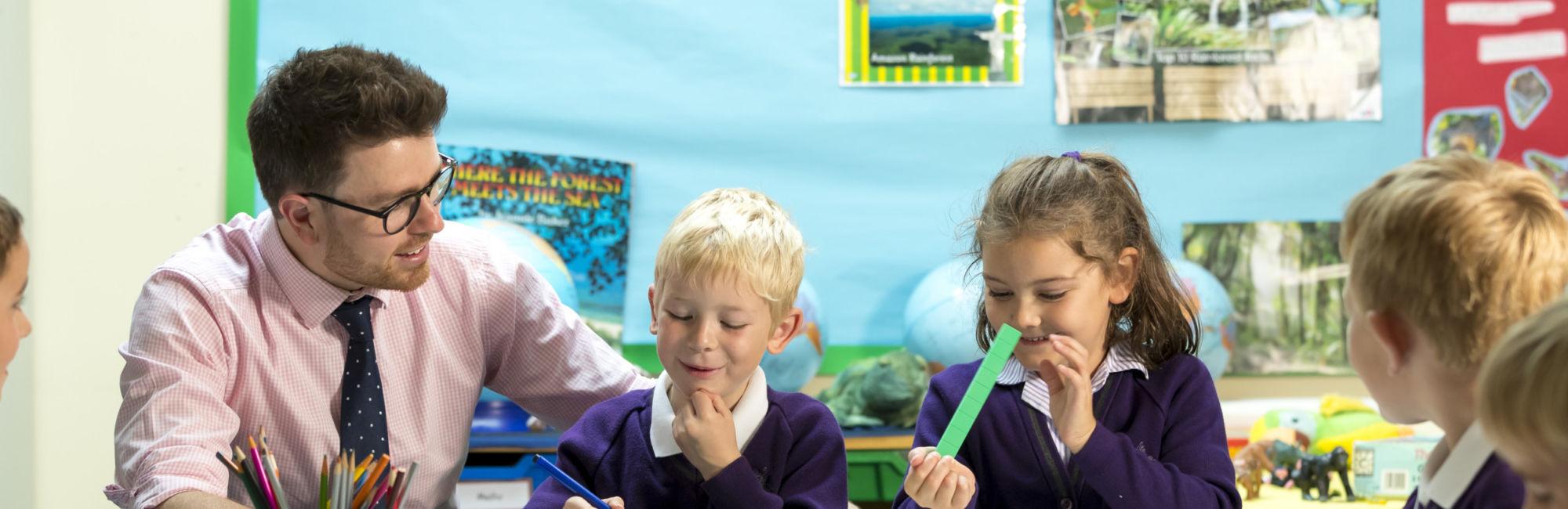 wycliffe nursery kids and teacher learning in class