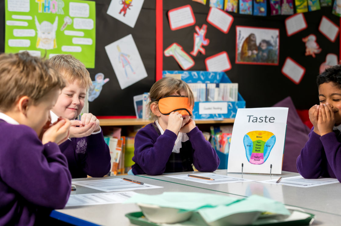 wycliffe nursery pupils learning about senses in class