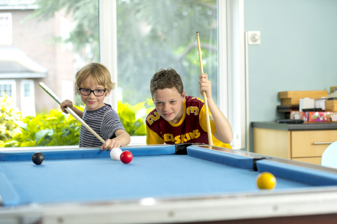 wycliffe pennwood house boys playing pool