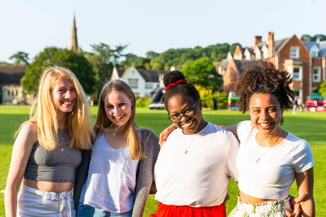 group of wycliffe girls smiling and posing together