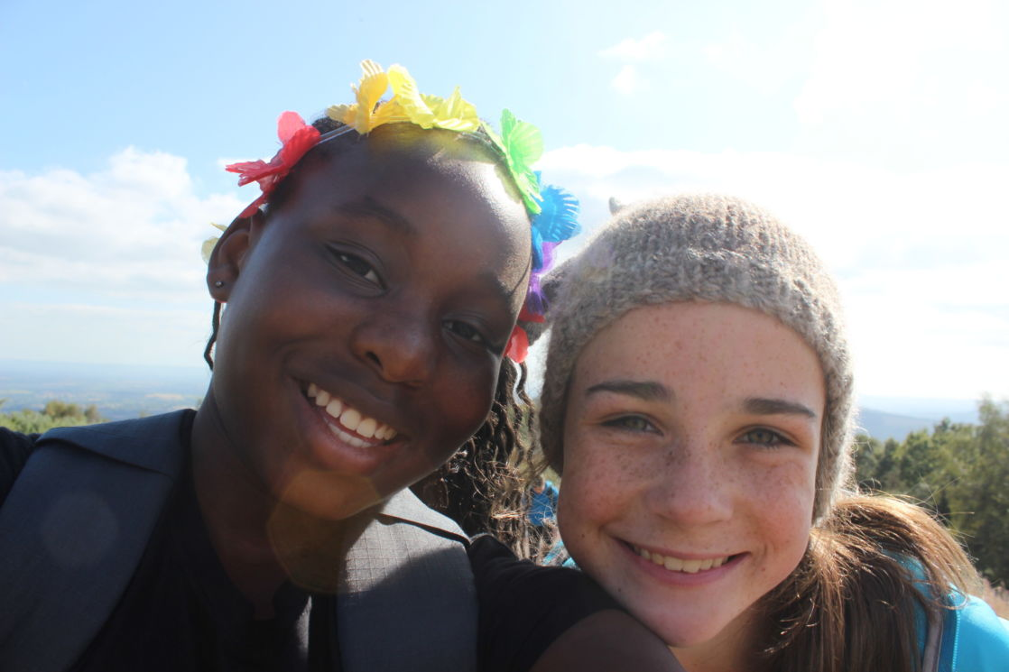 two wycliffe girls smiling