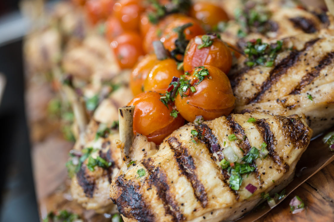chicken breasts and cherry tomatoes