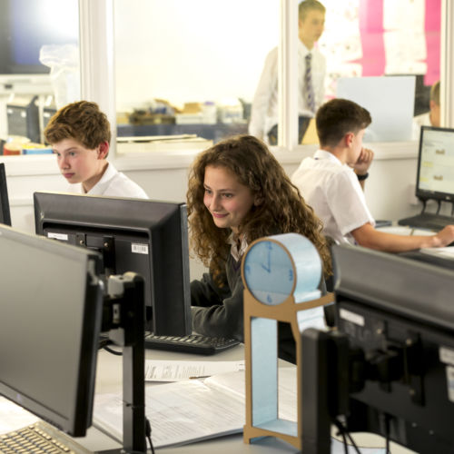wycliffe college students in the computer lab