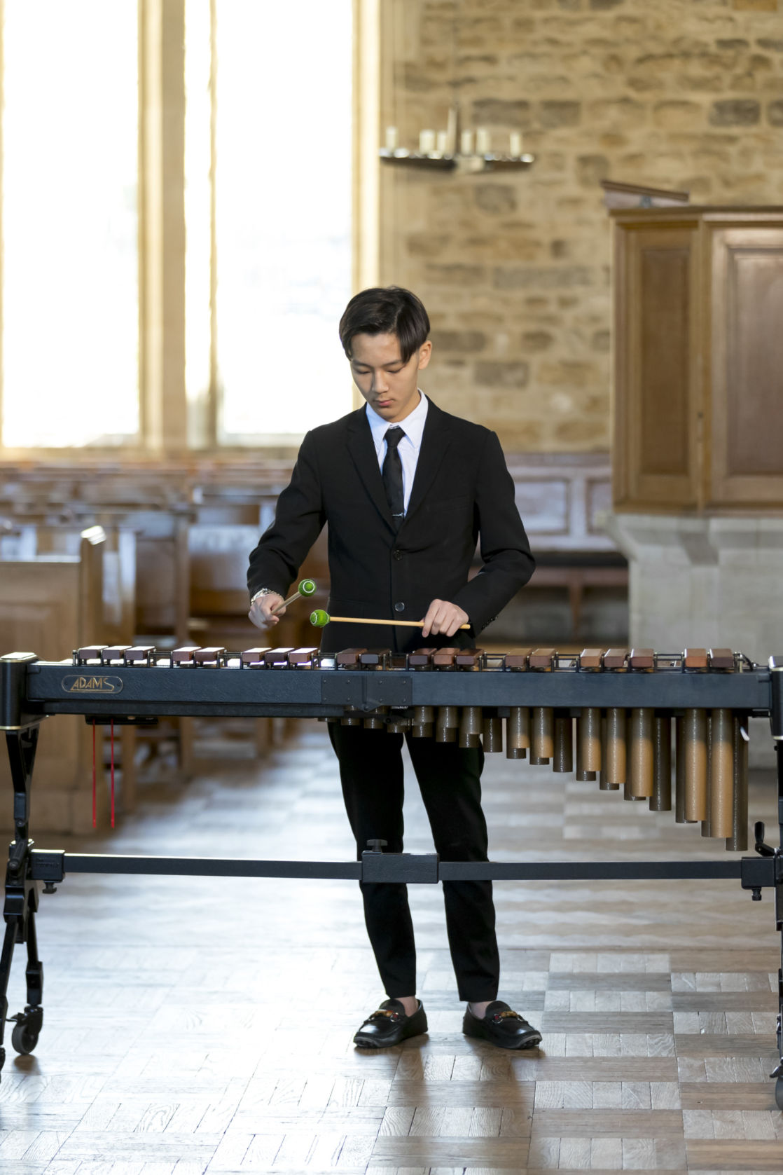 wycliffe student playing an instrument