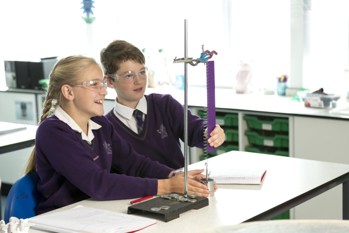 wycliffe students in the science lab