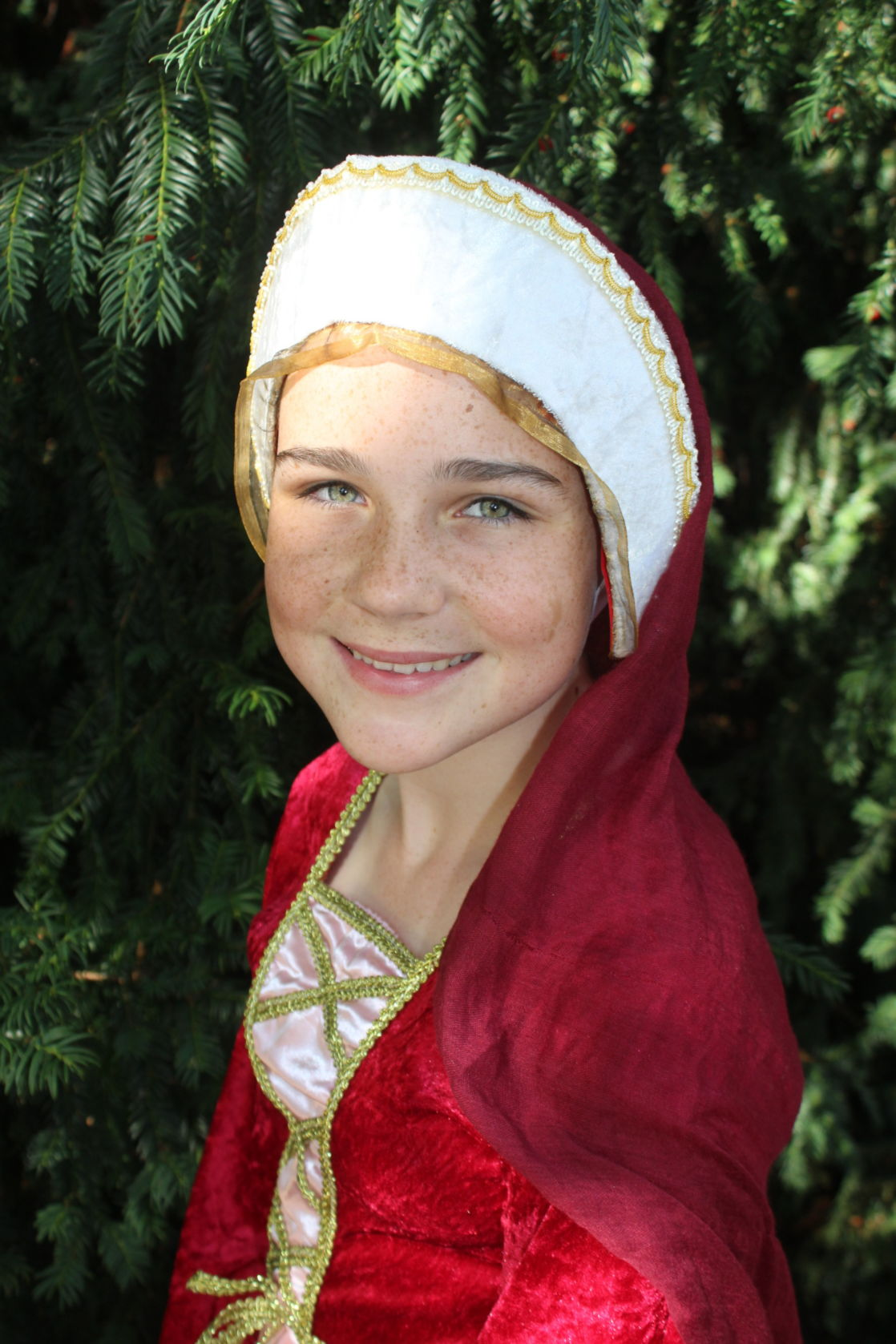 wycliffe girl wearing a costume