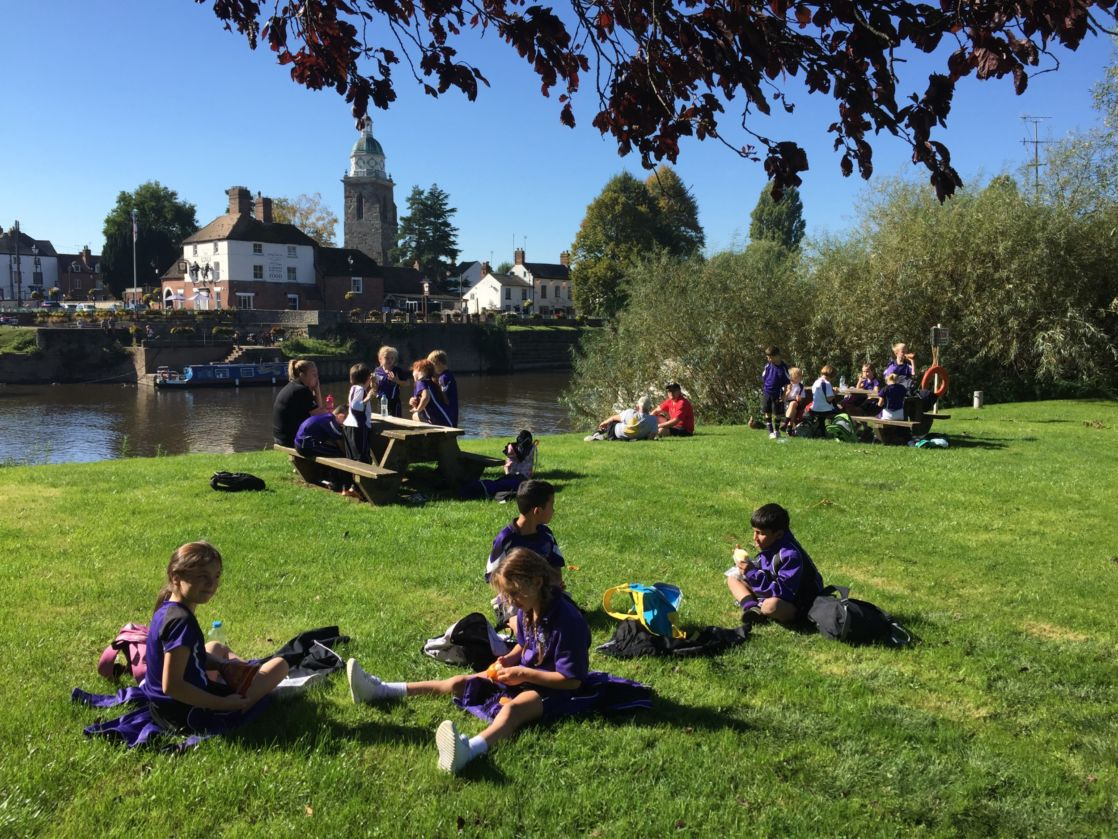 wycliffe pupils spending time outdoors