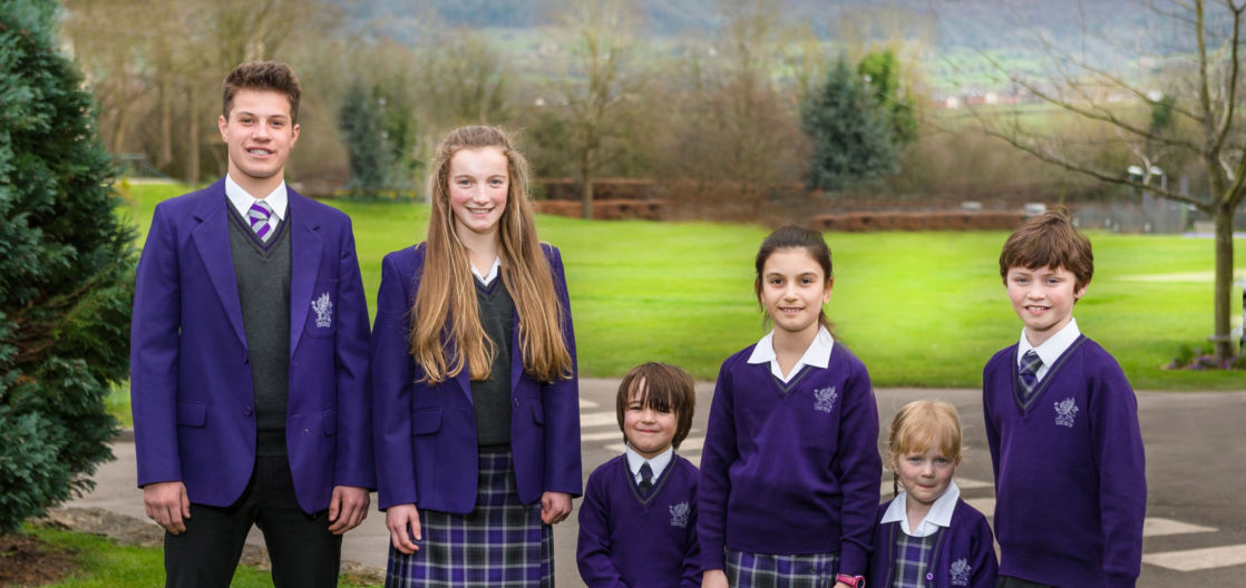 group of wycliffe pupils from different ages