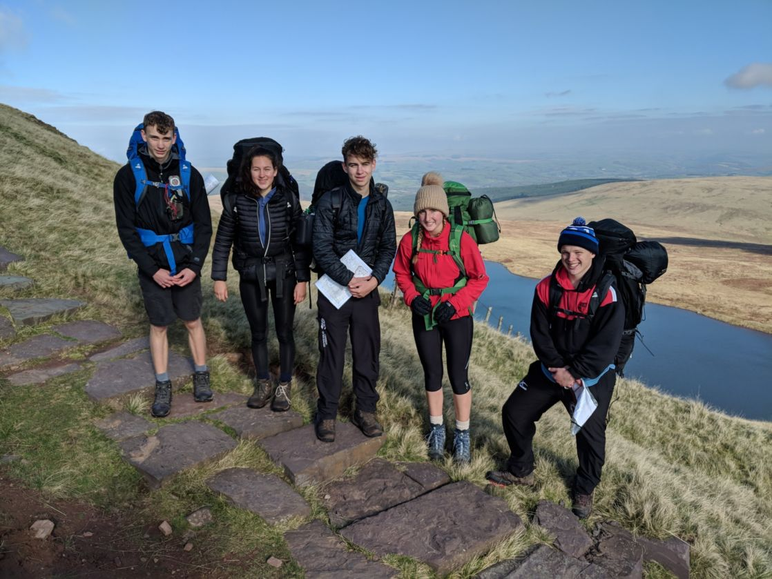 Wycliffe pupils on a trip next to a river