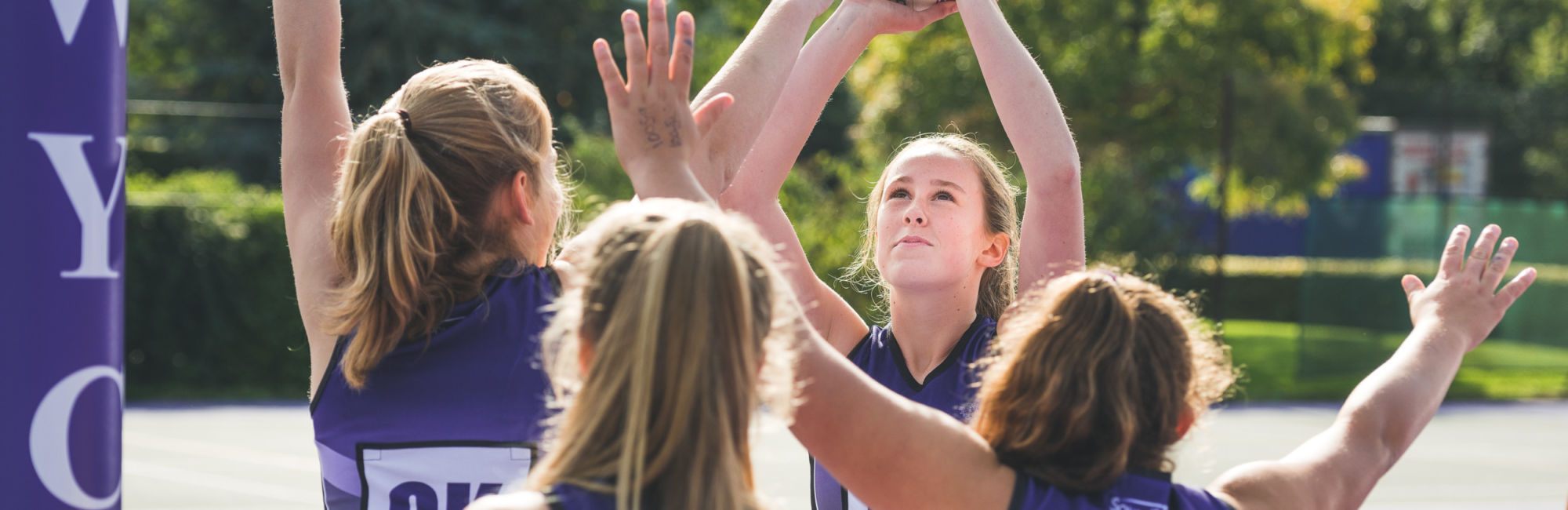 wycliffe netball team playing