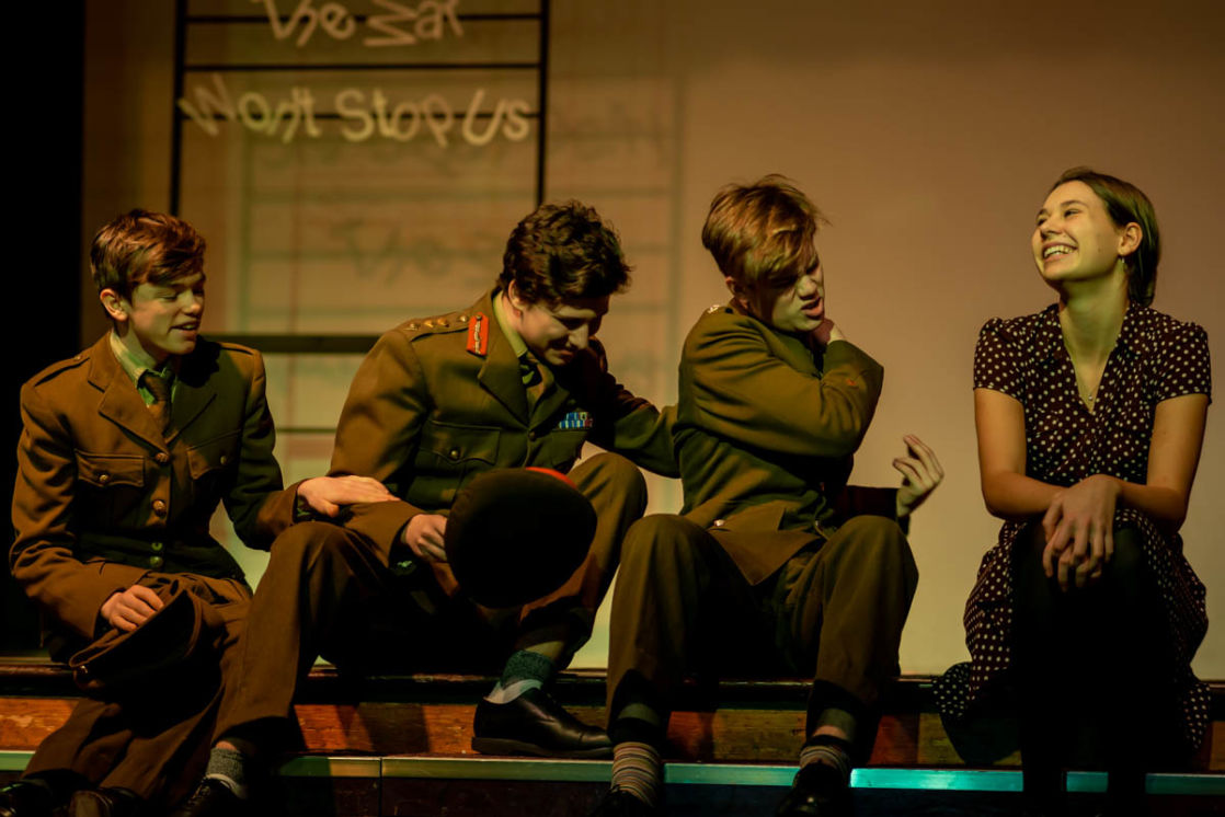 wycliffe pupils acting in a play