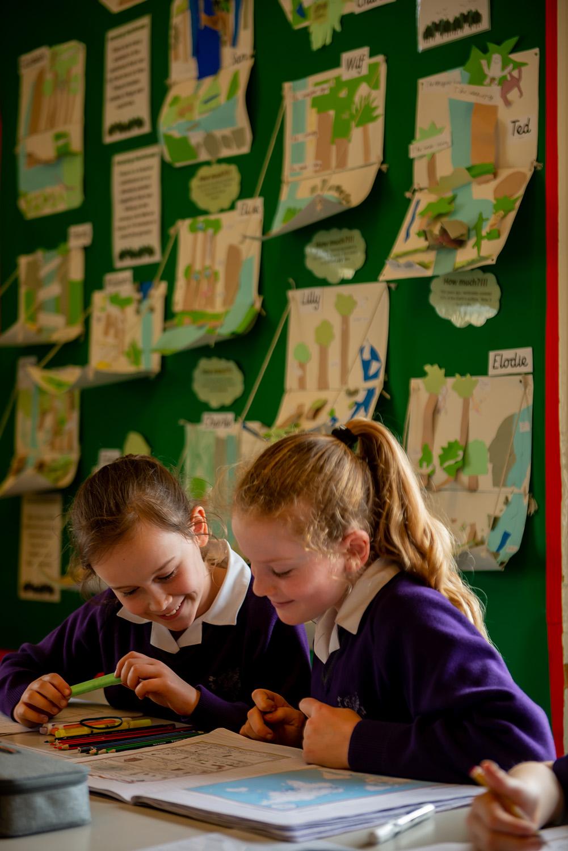 wycliffe girls reading in class