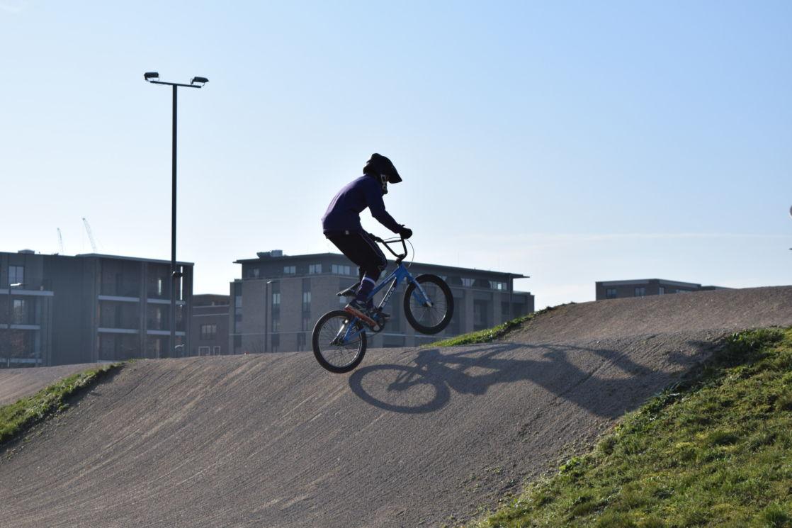 wycliffe pupil riding a bike