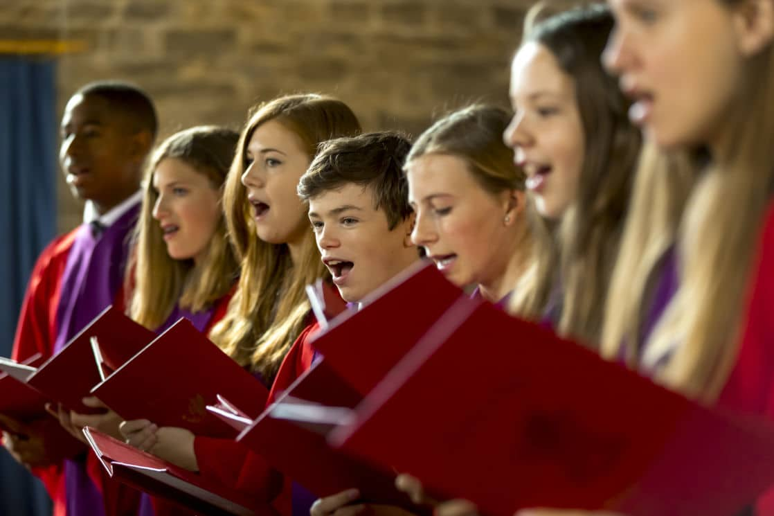 wycliffe members of the chorus singing