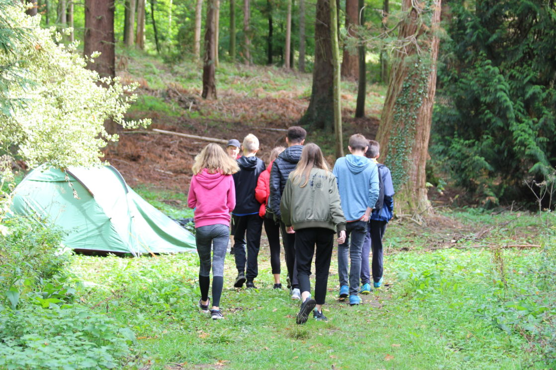 wycliffe pupils on a trip outside