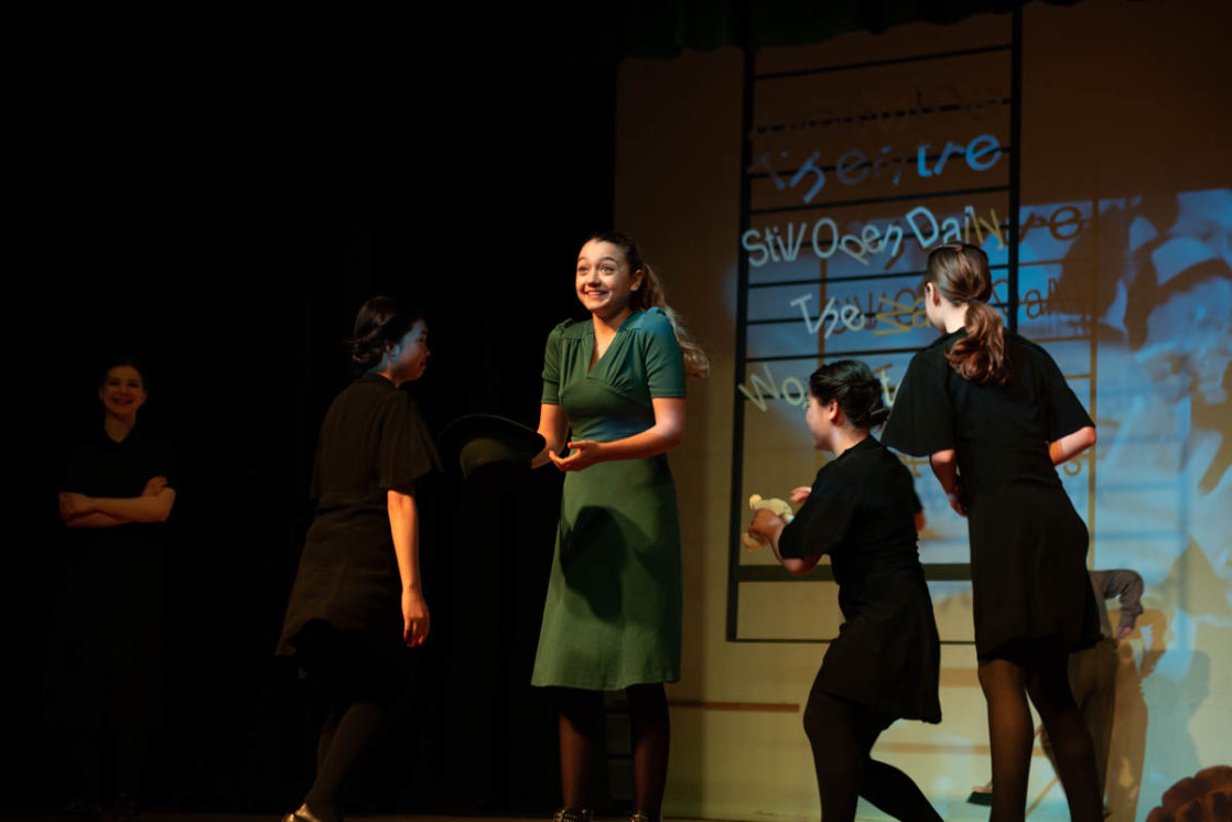 wycliffe students acting in a play