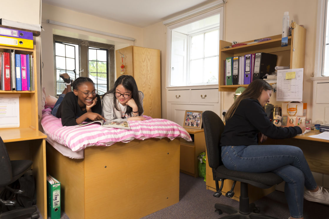 group of wycliffe girls in their dorms