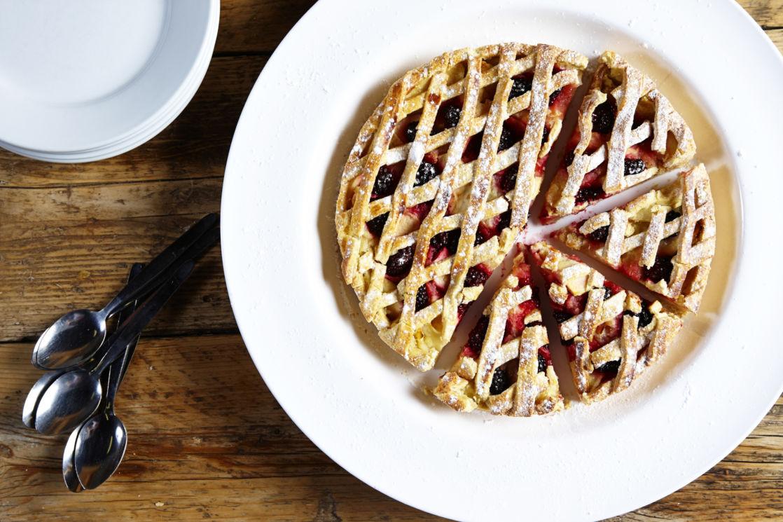 raspberry pie and spoons