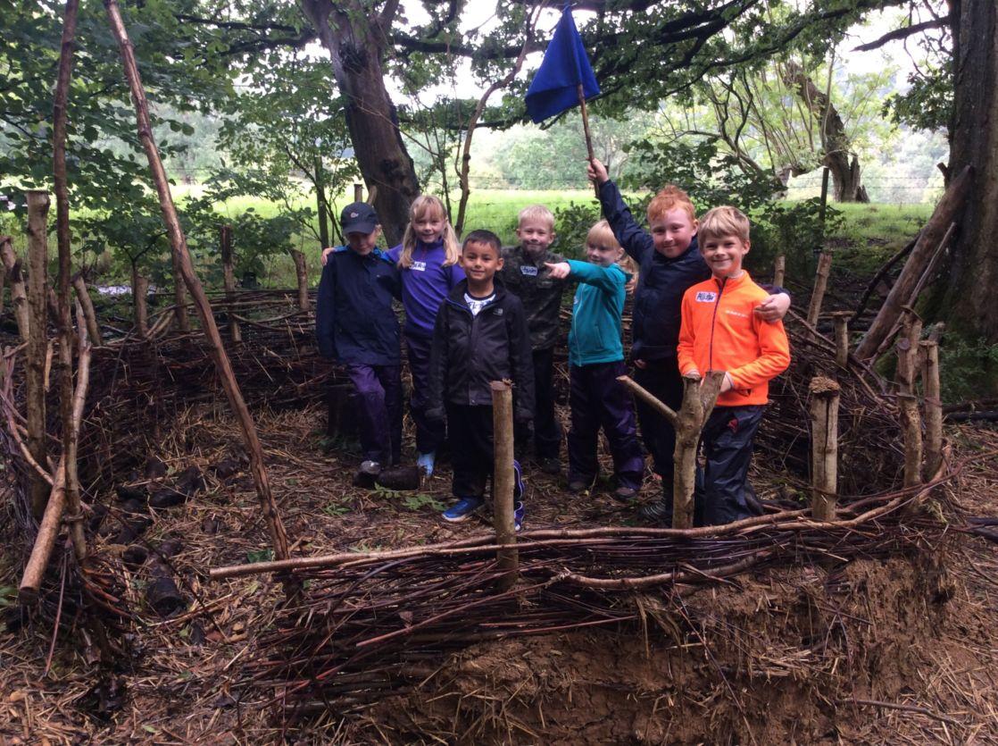 wycliffe kids in forest school