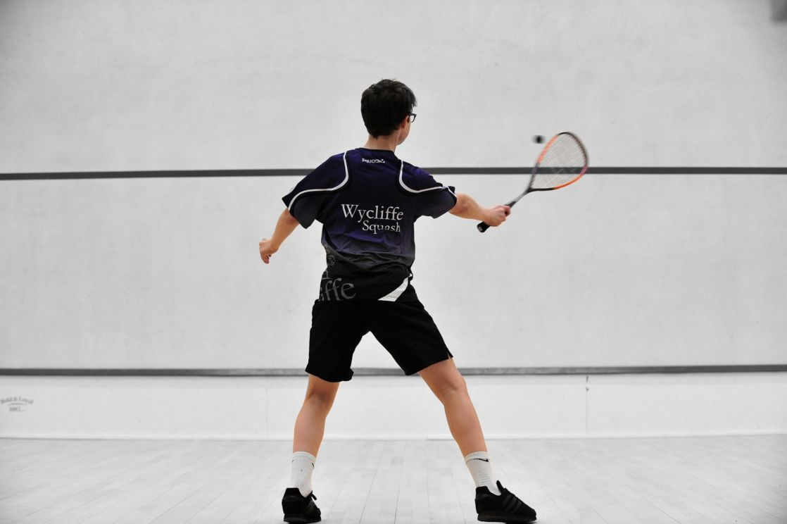 wycliffe pupil playing squash