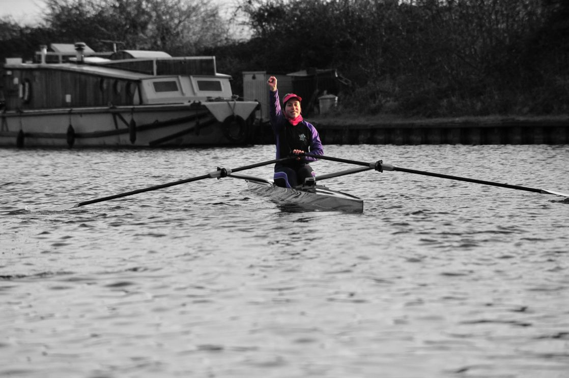 highlighted image of wycliffe girl rowing in a lake