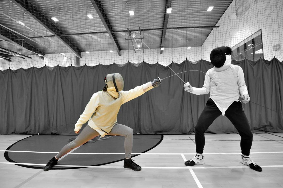 highlighted image of wycliffe pupil fencing