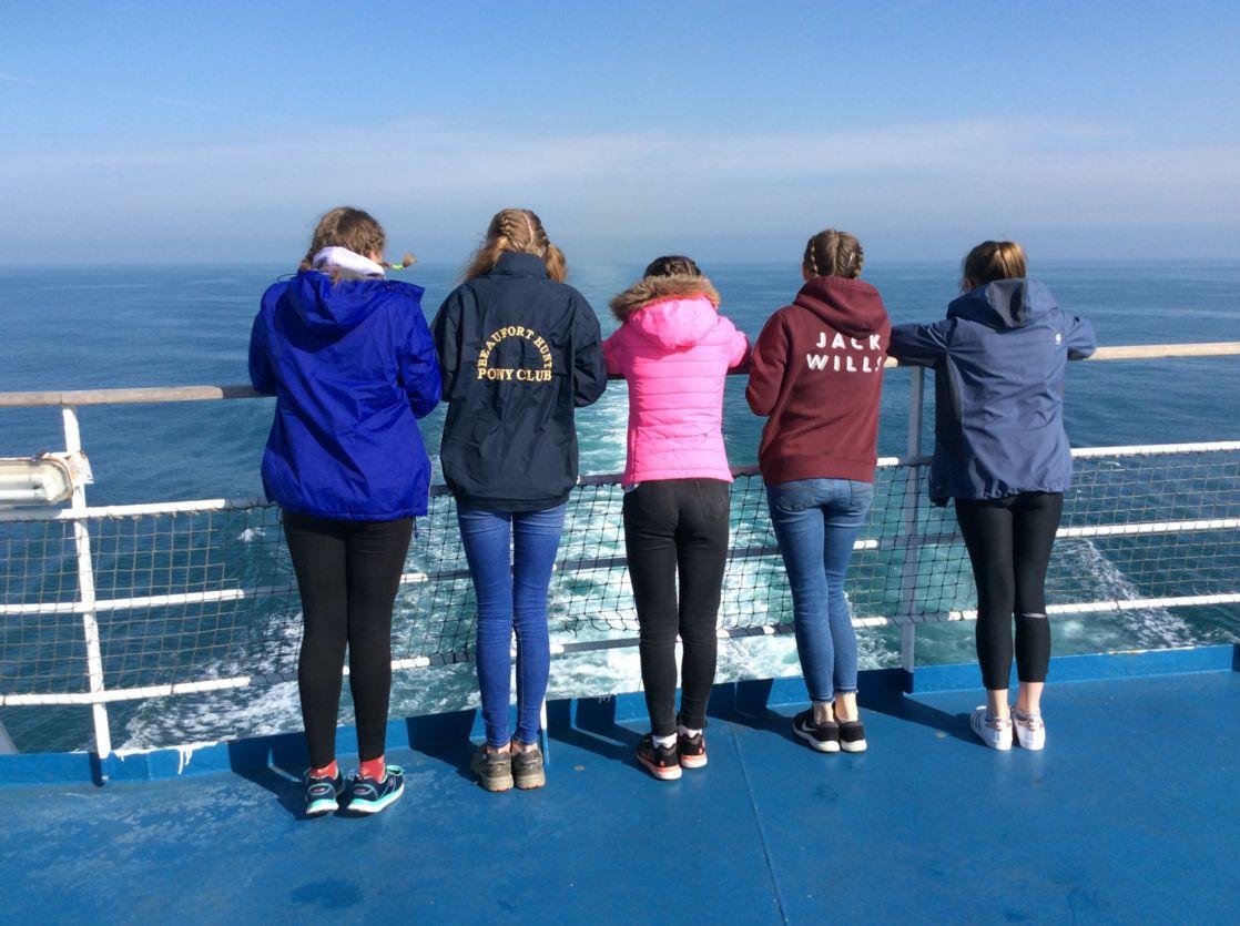 wycliffe girls on a boat trip