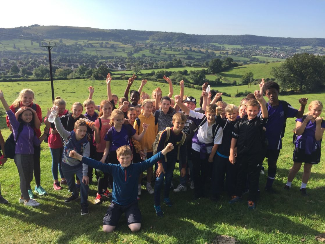 group of wycliffe pupils smiling outdoors