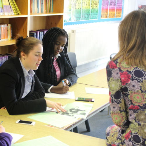 wycliffe teacher and pupils in the debate club