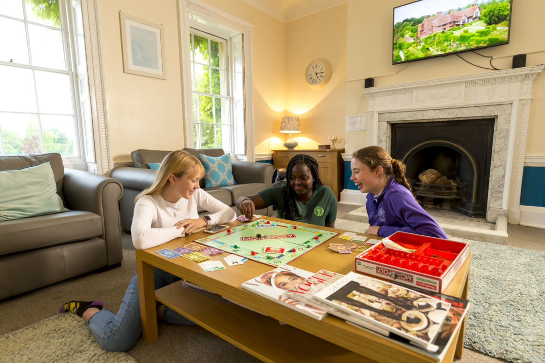 wycliffe pupils playing monopoly