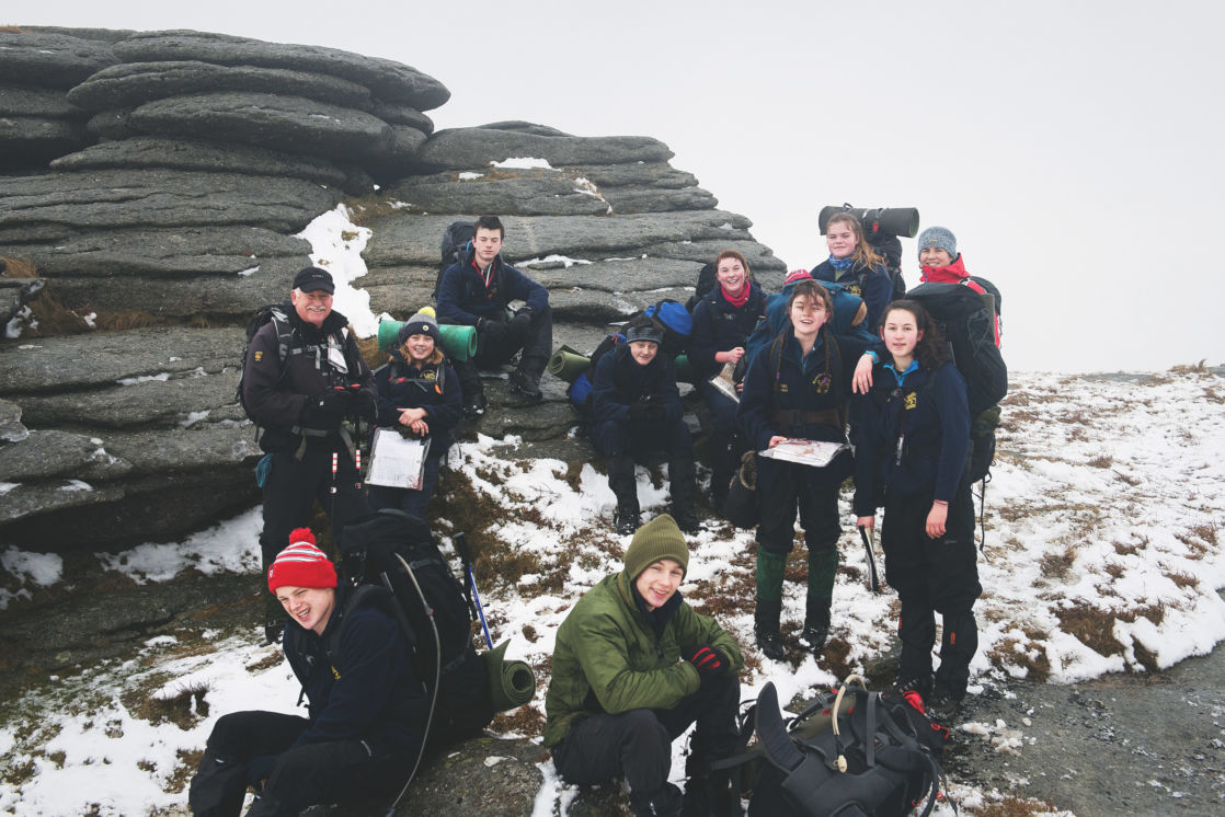 wycliffe pupils on a trip to dartmoor