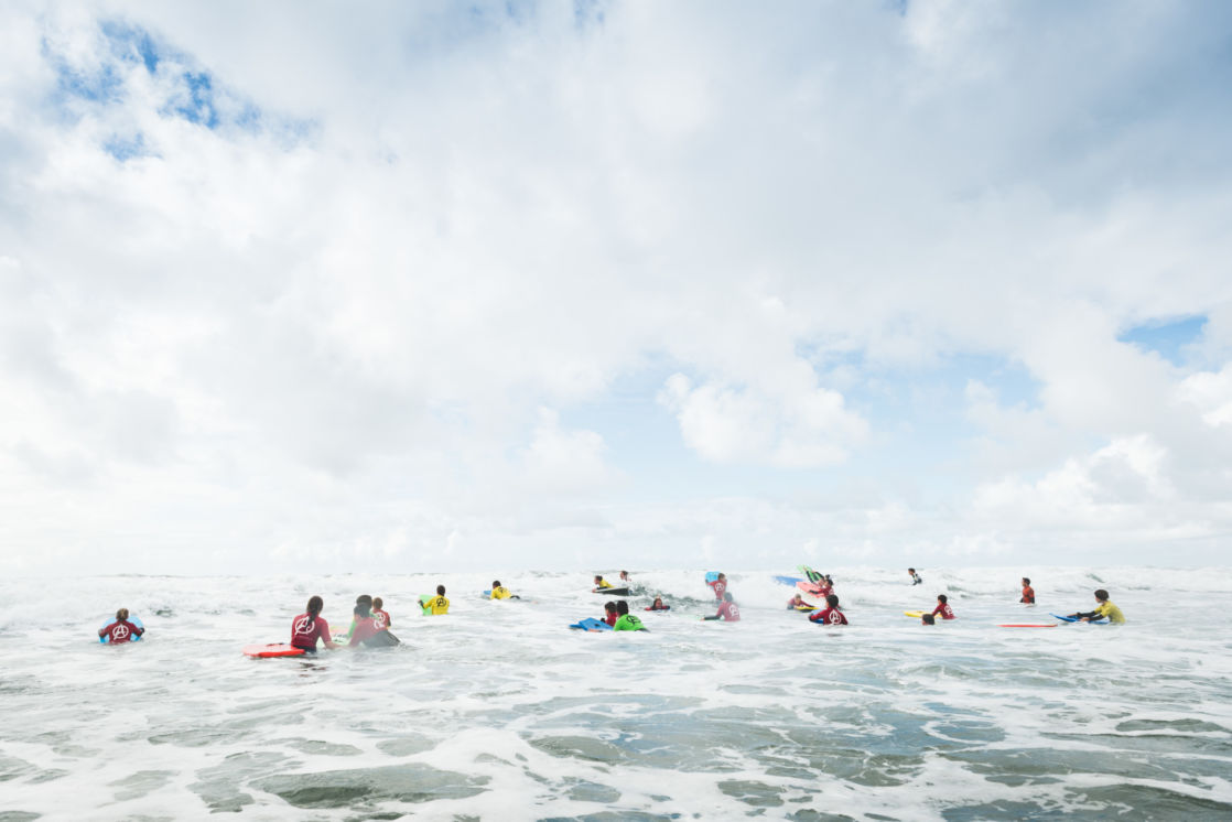 wycliffe kids surfing in north cornwall