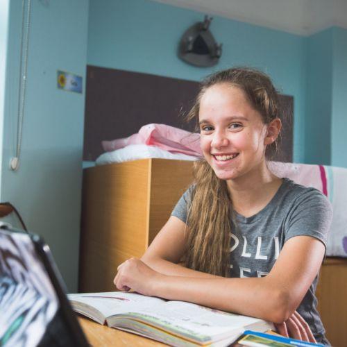 prep school boarder in dorm at wycliffe