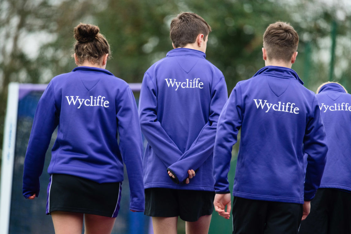 wycliffe students wearing the sports uniform