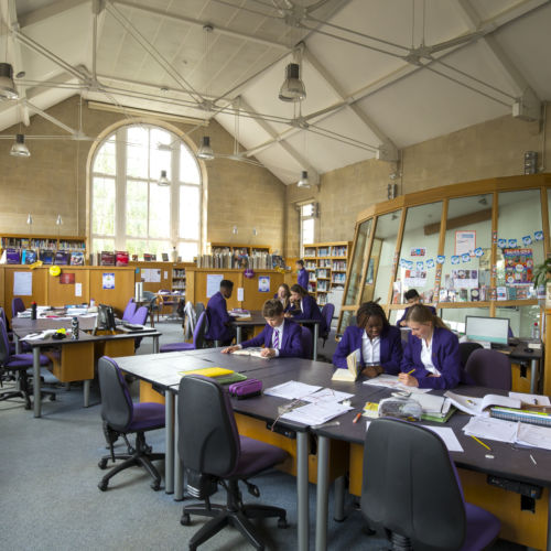 wycliffe library and students