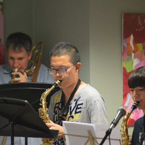 wycliffe senior students playing wind instruments
