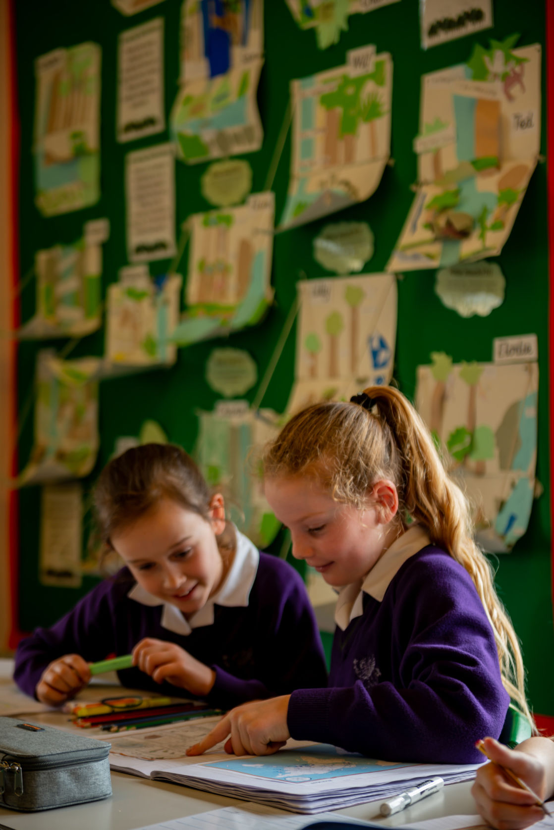 wycliffe girls doing class activities