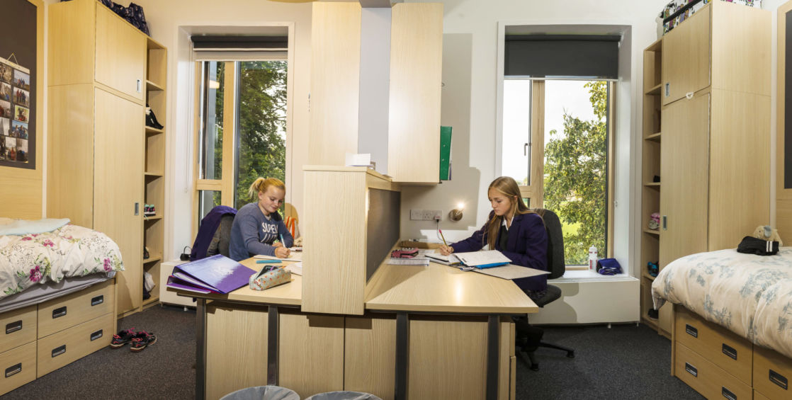 wycliffe senior students in their dorm rooms
