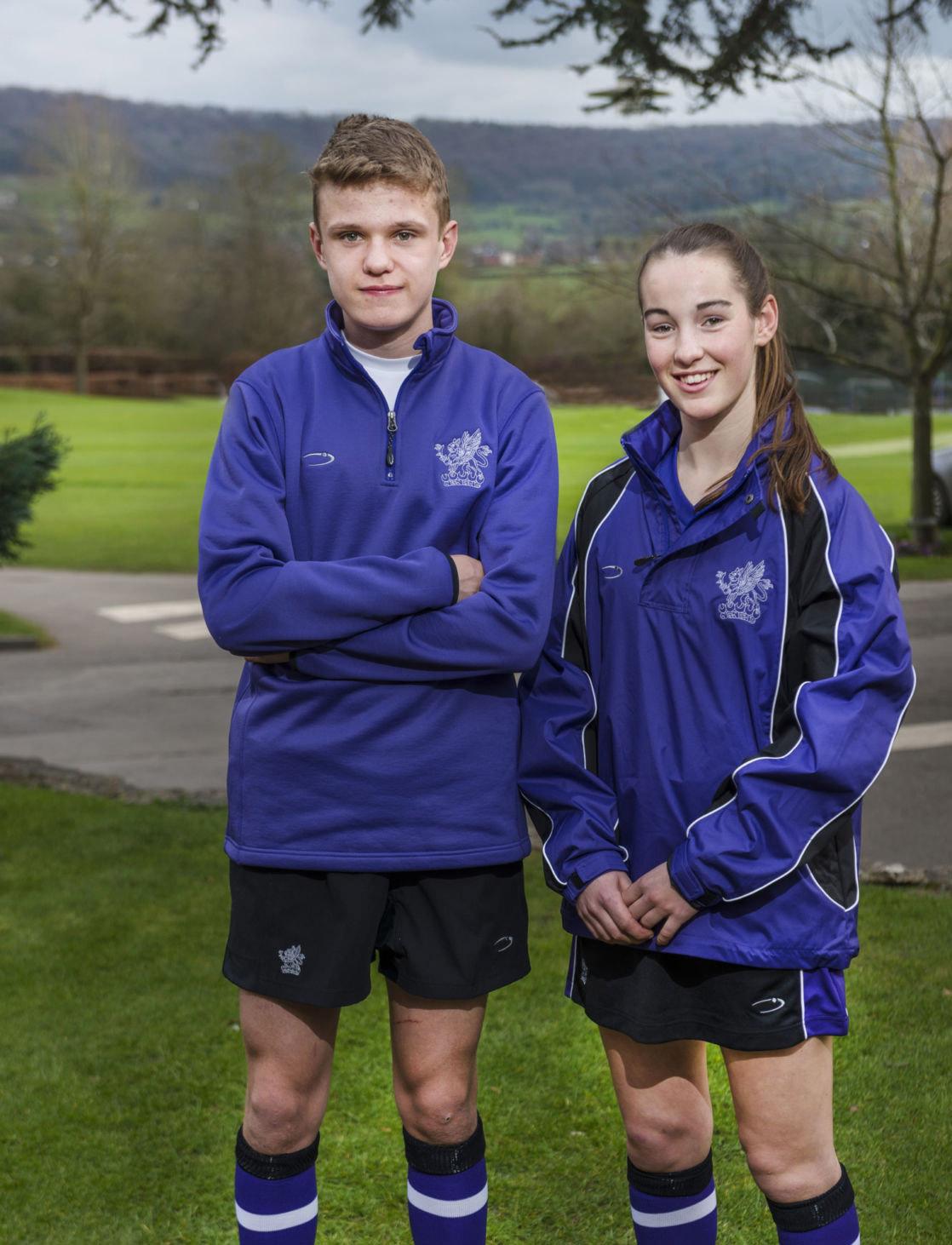 wycliffe pupils wearing the sports uniform
